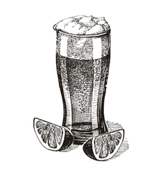 beer logo design template pub or drink vector image vector image