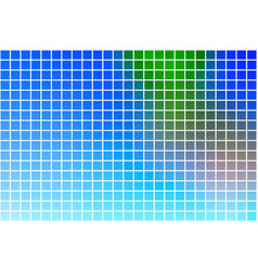 Blue green red square mosaic background over white vector
