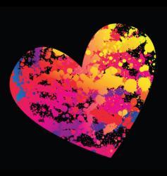 grunge hearts vector image vector image