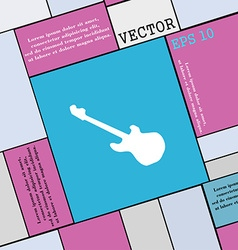 Guitar icon sign Modern flat style for your design vector image vector image