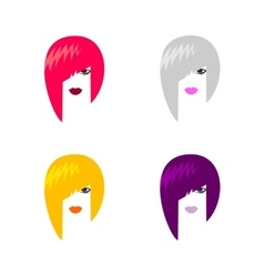 Head of woman vector image