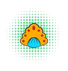 Kokoshnik icon in comics style vector image vector image