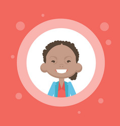 Profile icon female avatar african american woman vector
