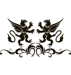 Background heraldry decoration vector image vector image