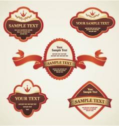 vintage labels vector image vector image