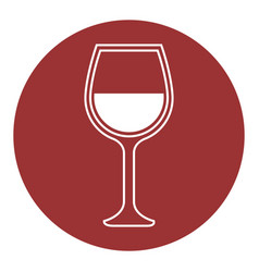 Wineglass icon image vector