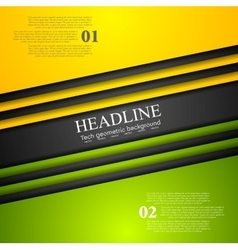Abstract bright tech corporate background vector image vector image