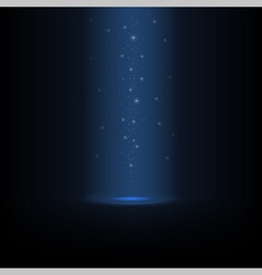 Glowing falling magic dust vector image