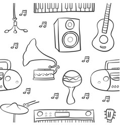 Music element various doodle style vector