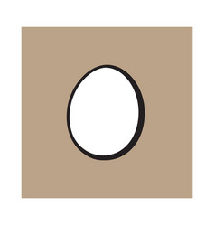 single whole hard boiled peeled unshelled vector image