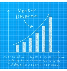Blueprint Diagram vector image vector image