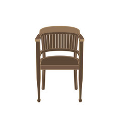 chair wooden isolated furniture white vintage vector image