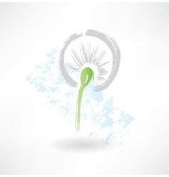 dandelion grunge icon vector image vector image