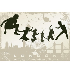london postcard vector image vector image