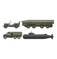 military transport with bulletproof corpus vector image