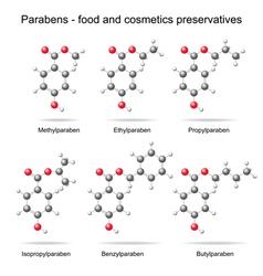 Parabens preservatives vector image