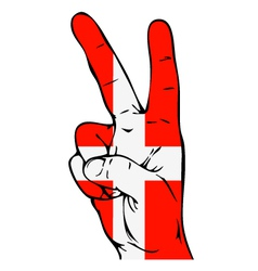 Peace Sign of the Danish flag vector image vector image