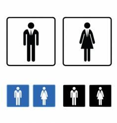 restroom business vector image vector image