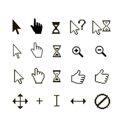 set of different mouse cursors vector image