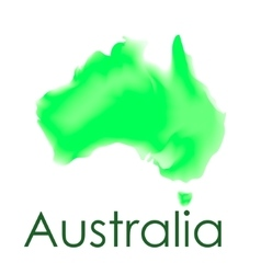 watercolor map of Australia on a white vector image