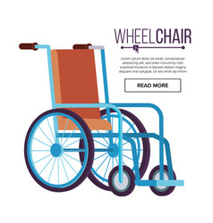 wheelchair classic transport chair for vector image vector image