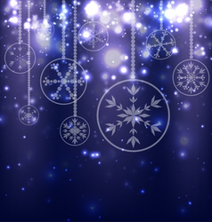 Abstract Christmas Balls on Blue Background vector image