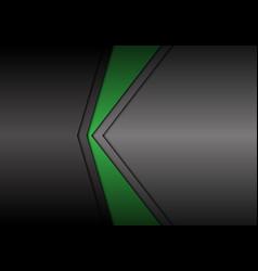 Abstract metallic green gray arrow direction vector