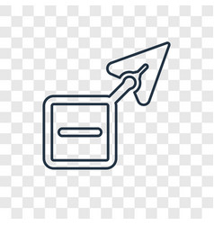 arrow concept linear icon isolated on transparent vector image