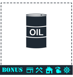 barrel oil icon flat vector image