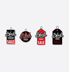 black friday price-tag label collection vector image