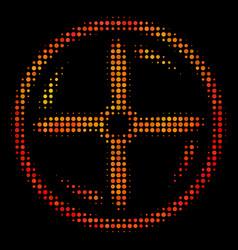 Bright dot drone screw rotation icon vector