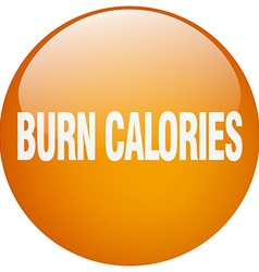 Burn calories orange round gel isolated push vector