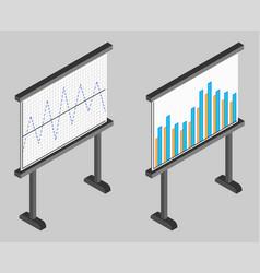 Business chart board set of graphs data vector