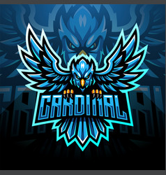 Cardinal esport mascot logo vector