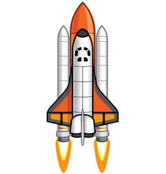 Cartoon space shuttle vector