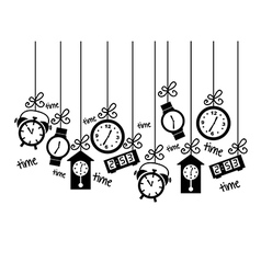 Clock icons over white background vector