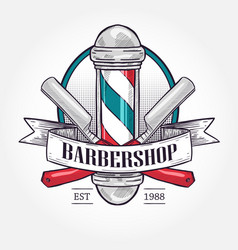 Color barbershop logo vector