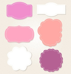 Cute Vintage labels set in pastel colors vector image