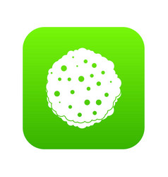 Cutlets icon digital green vector