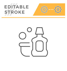 Detergent editable stroke line icon vector
