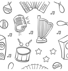 Doodle of musical instrument collection vector