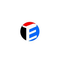 e letter circle logo vector image