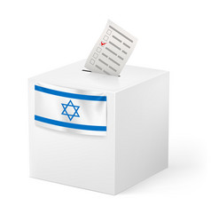 Election in israel ballot box with voicing paper vector