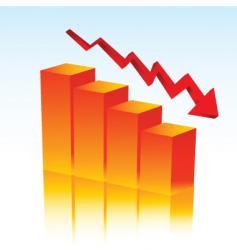 Falling profits vector
