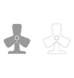 fan set icon vector image
