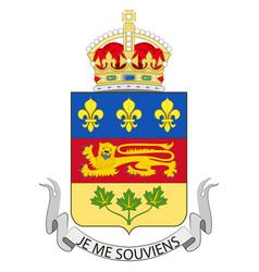 Flag quebec in canada vector