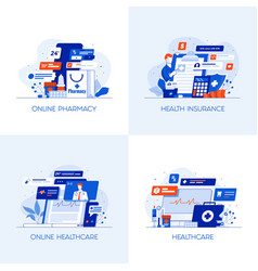 flat designed conceptual icons 8 vector image