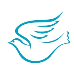 Flying dove or bird peace vector