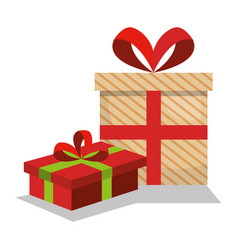 Giftbox presents set icons vector