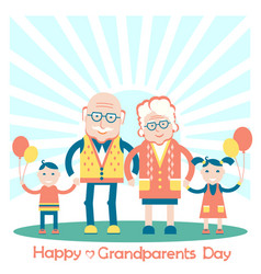 grandparents with grandchildren family vector image